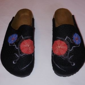 SUPER CUTE PAPILLIO BY BIRKENSTOCK WOOL FELT MULES
